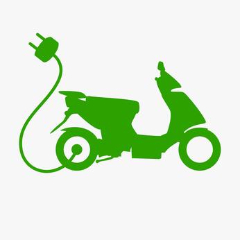 Grüner EScooter
